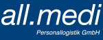 Logo: all.medi Personallogistik GmbH
